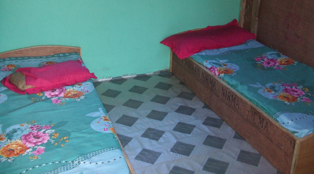 Bed of Manaslu teahouse